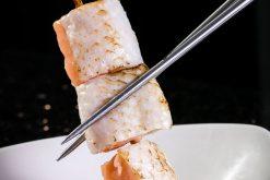 Sashimi Cá Hồi BBQ - Grilled Salmon skewered